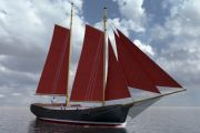 Skerry Schooner Yacht Sail Boat For Sale