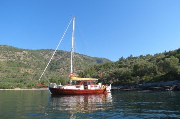 Turkish Tirandhil Traditional wooden yacht Sail Boat For Sale